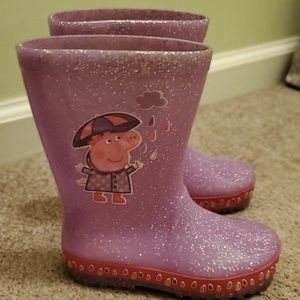 Marks & Spencer sparkly Peppa Pig Rainboots 9